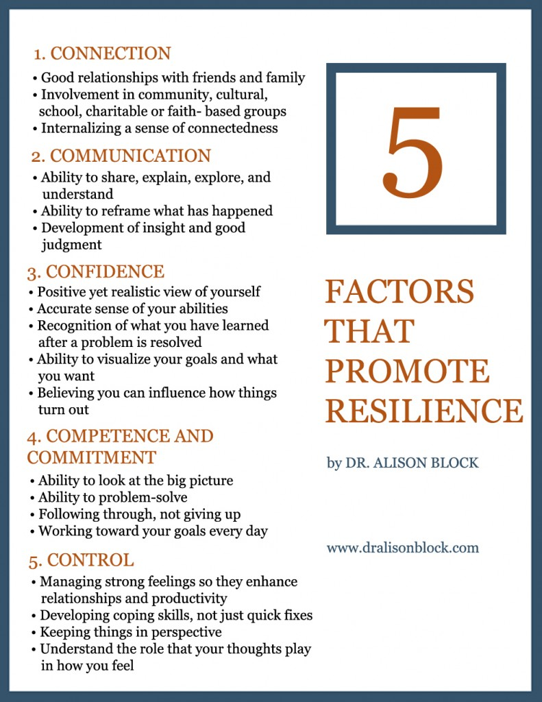 5 Factors that Promote Resilience